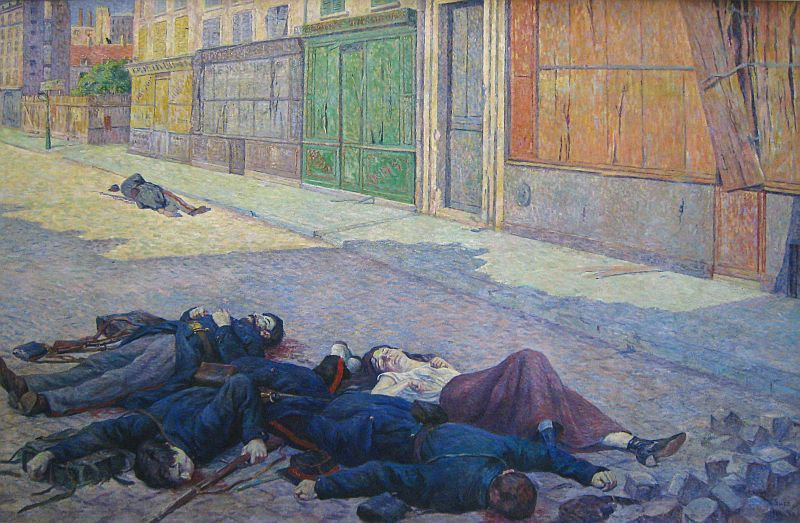 Максимильен Люс - Улица в Париже в Мае 1871 года, 1903-1906