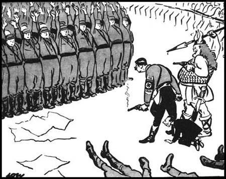 """""""Теперь салютуйте двумя руками"""" - карикатура Дэвида Лоу, посвящённая Ночи Длинных Ножей"""