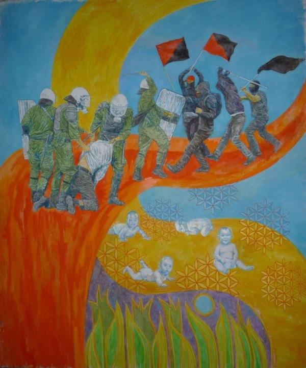 """Давида Чичкан  - """"Белок в разных измерениях"""" (автор - анархист, леворадикал, участник акция протеста)"""