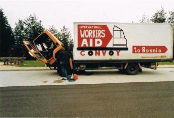 Все грузовики Workers' Aid были подержанные!