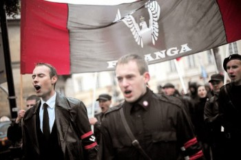 Бартош Бекер и Адам Данек. Варшава, 11 ноября 2009 г.