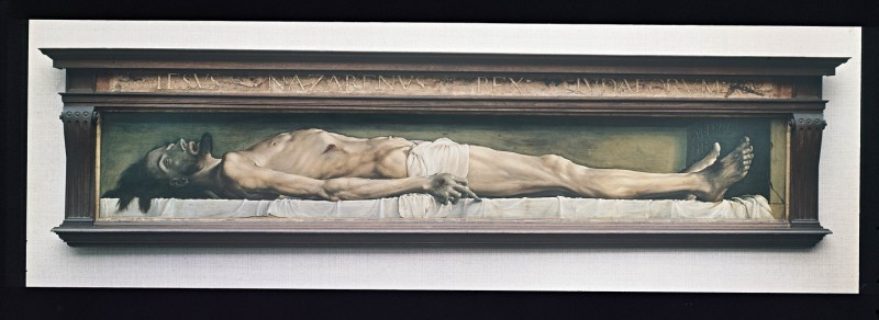 A detail from Hans Holbein's The Body of the Dead Christ in the Tomb