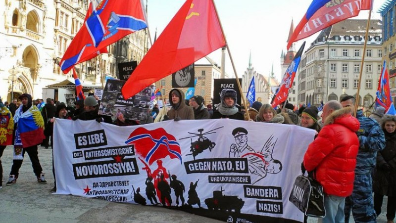 Anti-NATO meeting with supporters of 'Novorossiya' in Munich